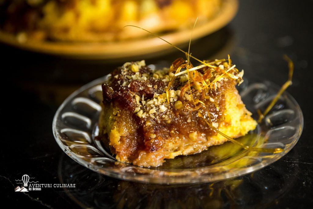 Prezentare felie tort de mere