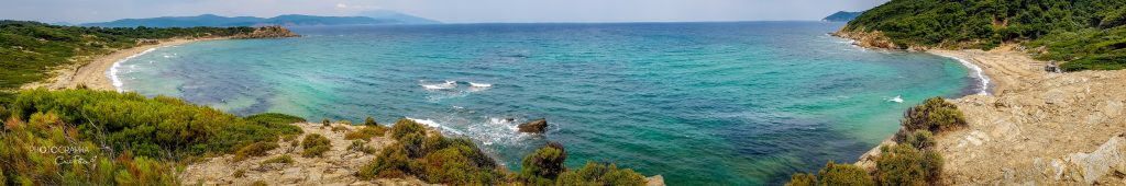 Punct de belvedere între plaja Agistros și plaja Elia, Skiathos, Grecia