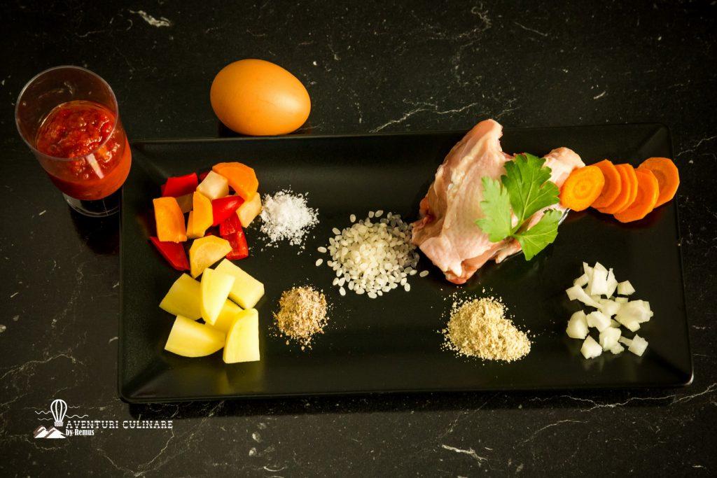 Ciorbă de pui - ingrediente