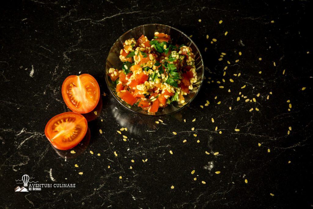 Salată în stil tabbouleh - prezentare
