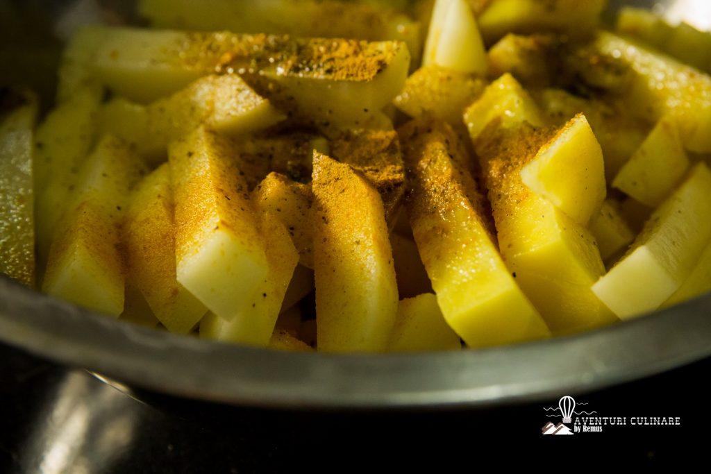Cartofi cu condimente