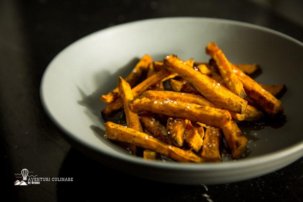 Cartofi (dulci și normali) prăjiți… La cuptor