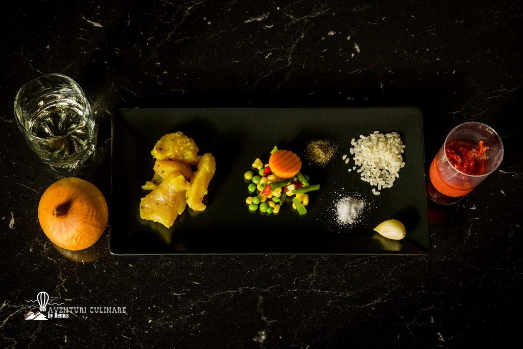 Paella cu pui - ingrediente