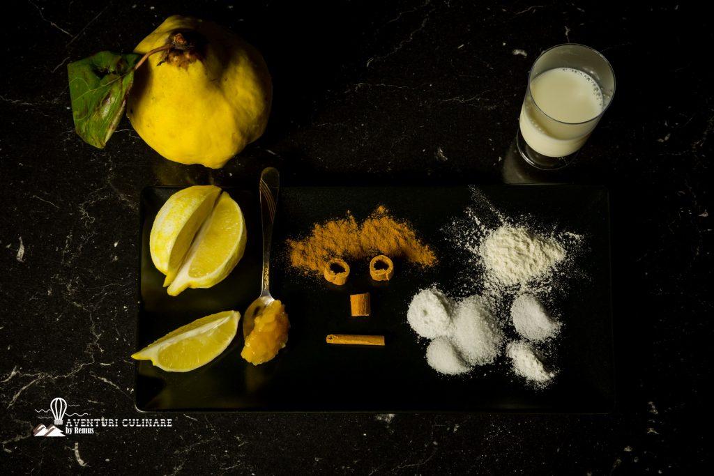 Ingrediente gogoși cu gutui