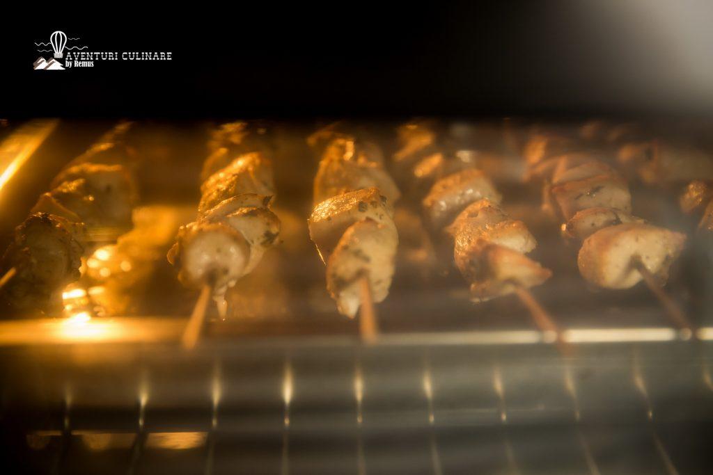 Souvlaki de pui în cuptor