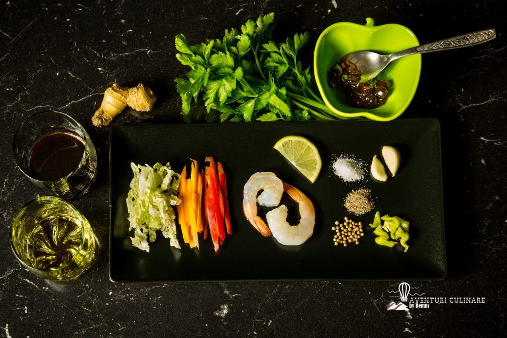 Ingrediente creveti cu legume